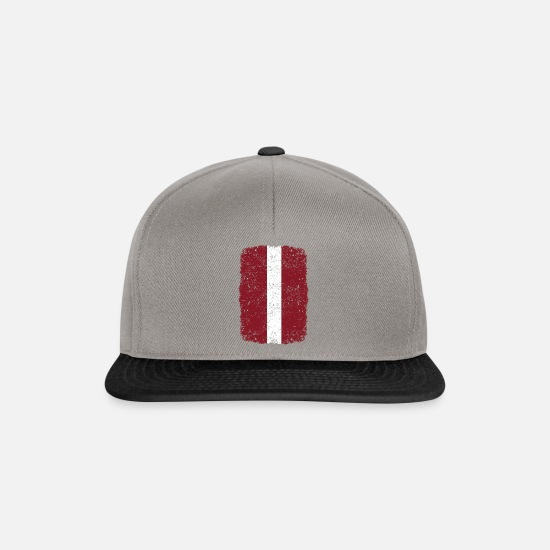 Love Caps & Hats - roots home country roots home Latvia - Snapback Cap graphite/black