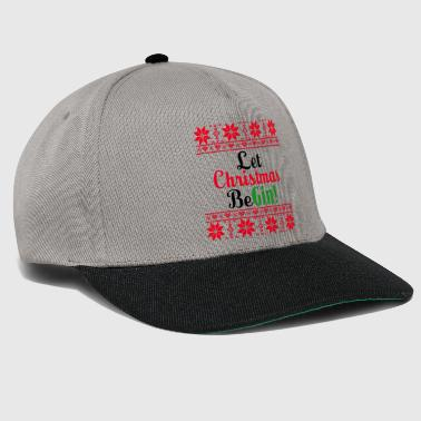 Weird Let Christmas be gin - Snapback Cap