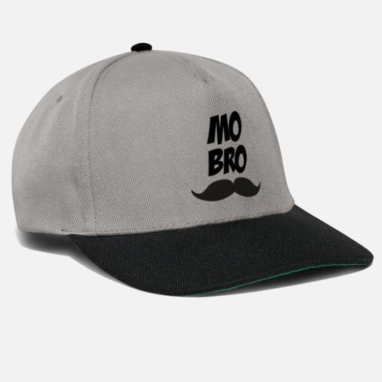 Mustache Caps & Hats - Bro in the mustache Mustache Bro - Snapback Cap graphite/black