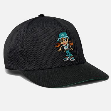 B Girl B girl and sunhat - Snapback Cap