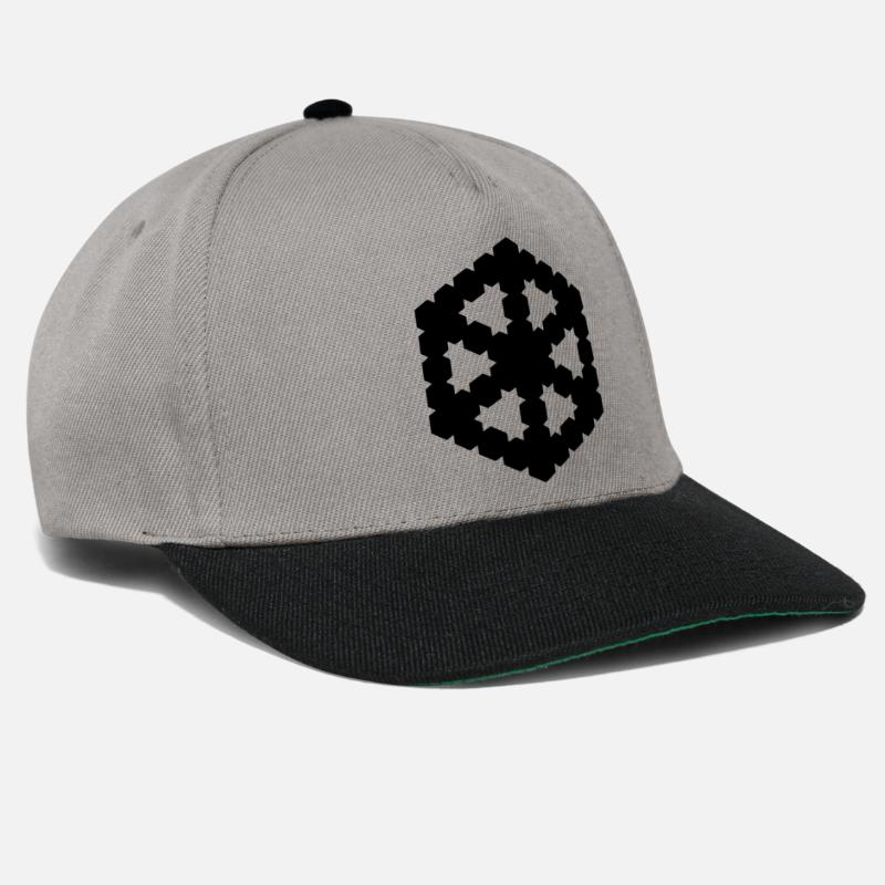 Image Caps & Hats - 3D optical - Snapback Cap graphite/black