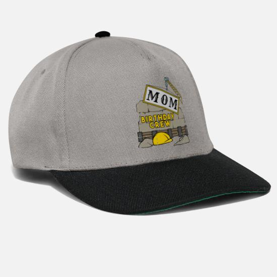Birthday Caps & Hats - Mom mother's birthday team construction construction site - Snapback Cap graphite/black