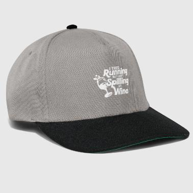 I tried running but I kept spilling my wine - weiß - Snapback Cap