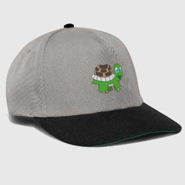 funny animals plants turtle children motifs - Snapback Cap