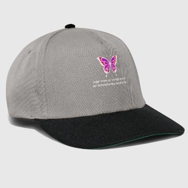 Persecuted Butterfly Purple Colorful dicendo caterpillar - Snapback Cap