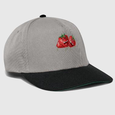 Strawberry Party - dibujo de fruta divertida de dibujos animados - Gorra Snapback