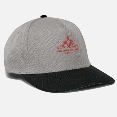New-mexico New Mexico with the Zia symbol - Snapback Cap