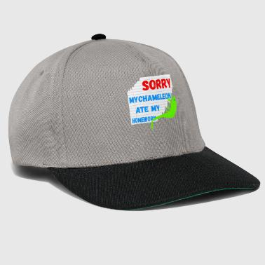 Sorry my Chameleon ate my homework gifts - Snapback Cap