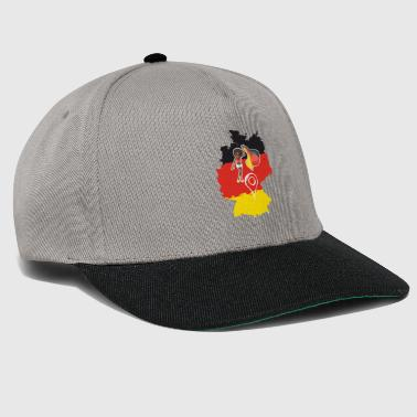 Germany Map, German Flag and Locator - Snapback Cap