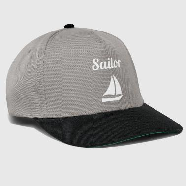 Sail design sail T-shirt sailor with sailing ship - Snapback Cap