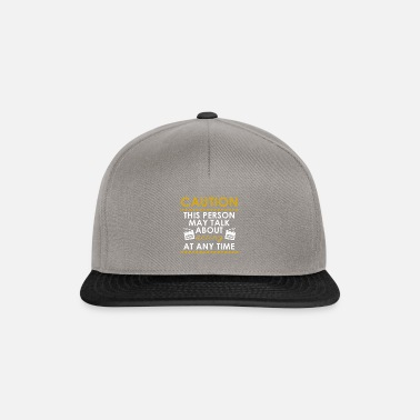Television Caution This Person may Talk About Acting - Snapback Cap