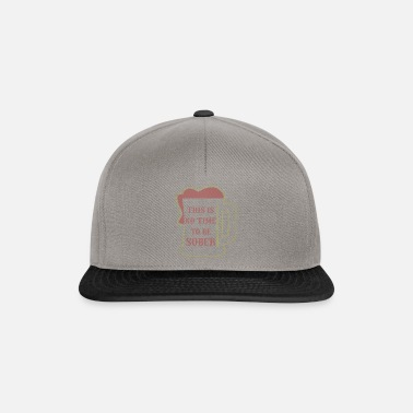 Bartender Beer Mug This is No Time to Be Sober Beer Lover - Snapback Cap