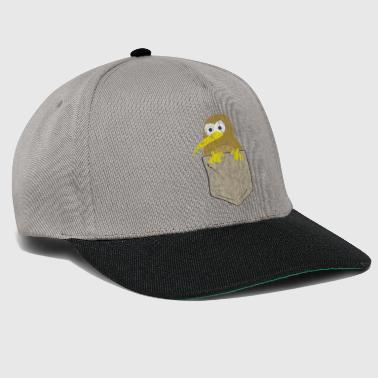 Kiwi Funny kiwi in chest pocket Used look - Snapback Cap