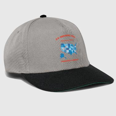 Camper U.S National Parks Map Hiker Camper Summer Vacation - Snapback Cap