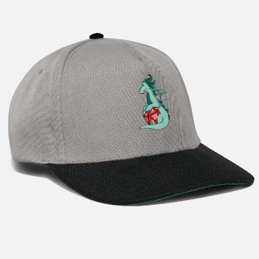 In Die Die Dragon Hugging D20 Die - Snapback Cap