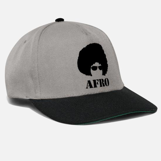 Gift Idea Caps & Hats - Afro, hairstyle, hair, gift, men - Snapback Cap graphite/black