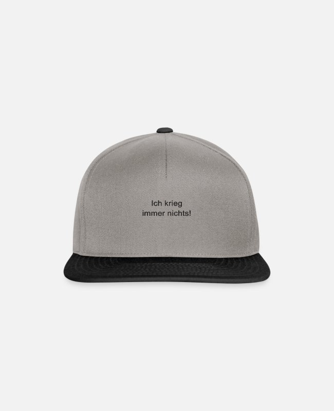 Satyr Caps & Hats - I always get nothing! - Snapback Cap graphite/black
