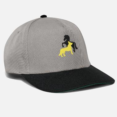 Horse Head Horse And Wolf Horse Lover Equestrian Rider - Snapback Cap
