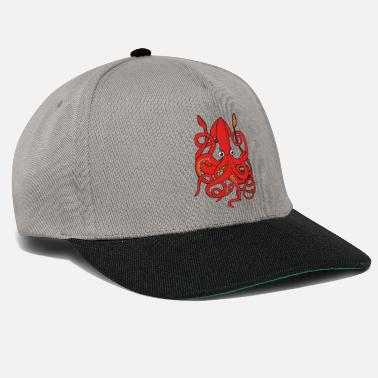 Sea Architeuthis dux Giant octopus Giant squid Octopus - Snapback Cap