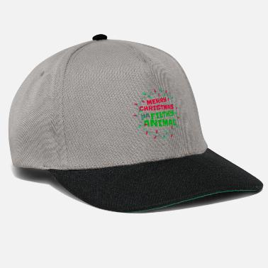 Merry Christmas Ya Filthy Animal Funny Humor - Snapback Cap