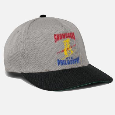 Philosophy Of Life Snowboard life happiness philosophy - Snapback Cap