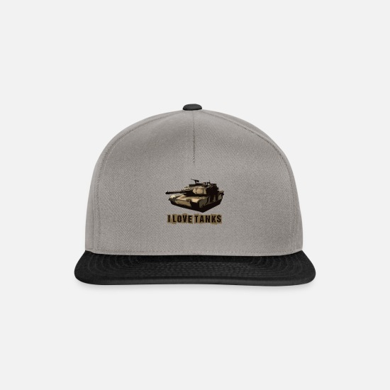 World Of Tanks Caps & Hats - I Love Tanks 2 # - Snapback Cap graphite/black