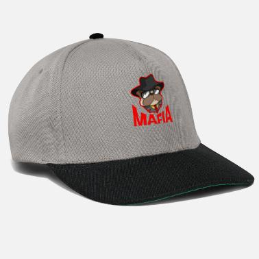 Gangster Mafia gangster pug with cigar gift - Snapback Cap