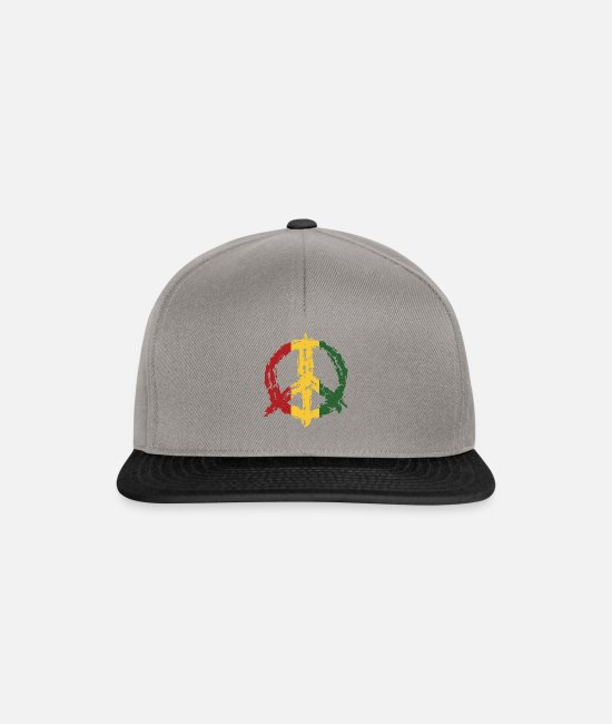 Protest Caps & Hats - Peace Sign Peace Sign - Snapback Cap graphite/black