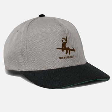 Face Faultier - Sloth / Who wants sleep? - Snapback Cap