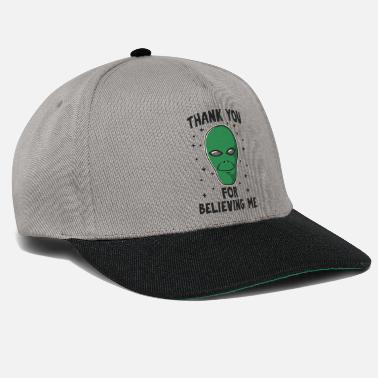 Saucer Thank you for believing me - Snapback Cap