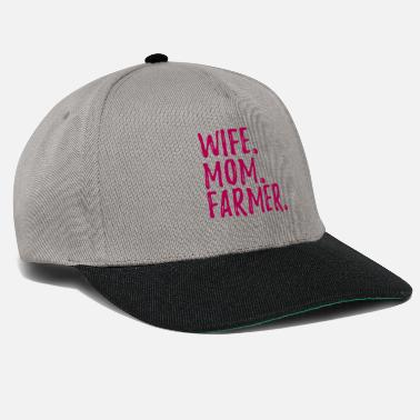 Wife Wife Mom Farmer - Snapback Cap