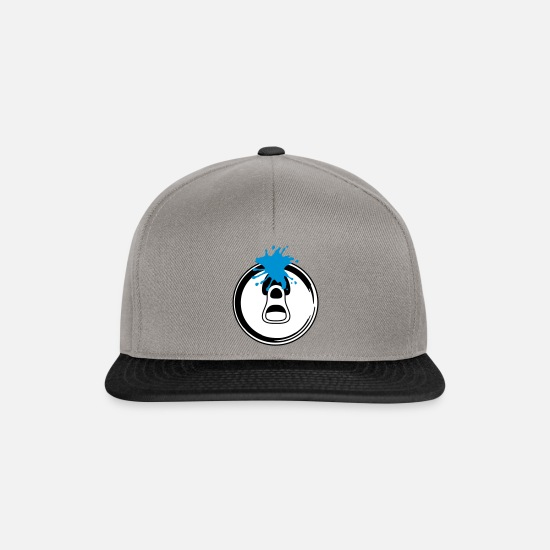 Gift Idea Caps & Hats - opened soda can in graffiti style - Snapback Cap graphite/black