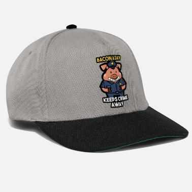 Secure Pig police security gift - Snapback Cap