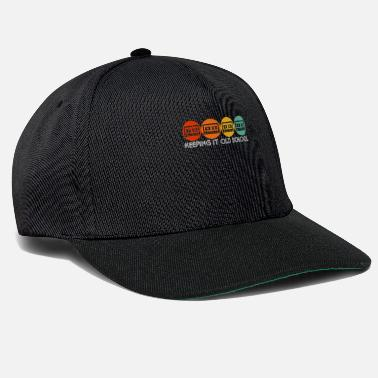 Music Cassette Tape 80s and 90s Retro Music Keeping it o - Snapback Cap
