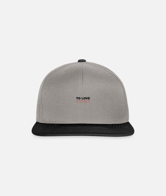 Hipster Caps & Hats - To love is to act - Snapback Cap graphite/black