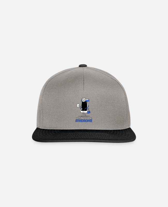 Disease Caps & Hats - The smartphone syndrome - Snapback Cap graphite/black