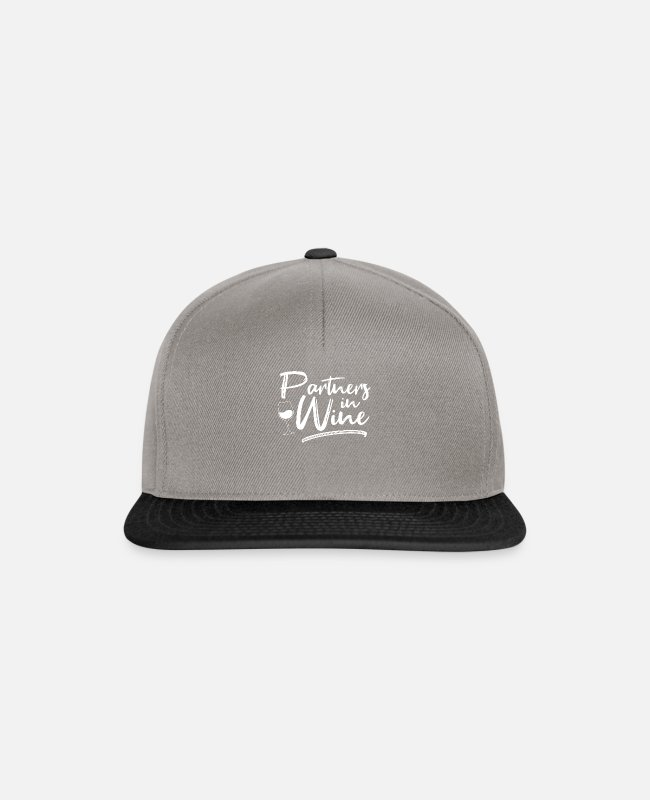Riesling Caps & Hats - Partners in Wine - Wine - Snapback Cap graphite/black