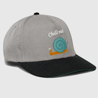 Coquille D Escargot Chill escargot bleu - Casquette snapback