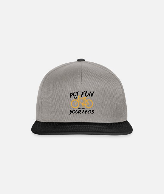 Nature Caps & Hats - Bicycle: Cycling - Put Fun Between Legs Gift - Snapback Cap graphite/black