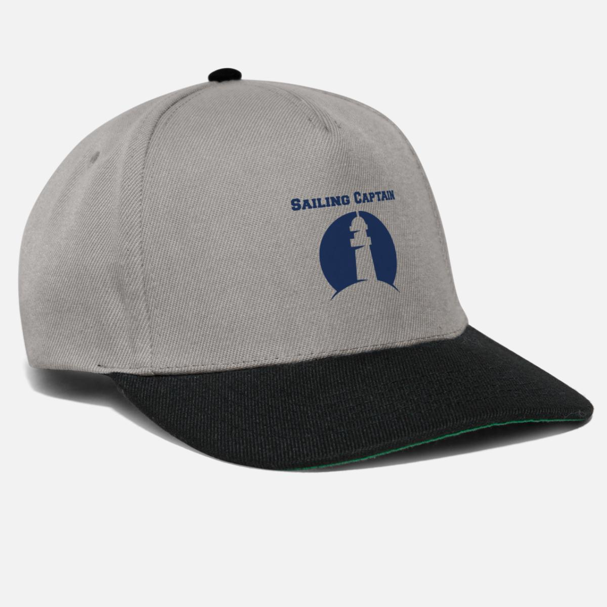 6d57016ea Sailing Captain Captain Sailing Snapback Cap - graphite/black