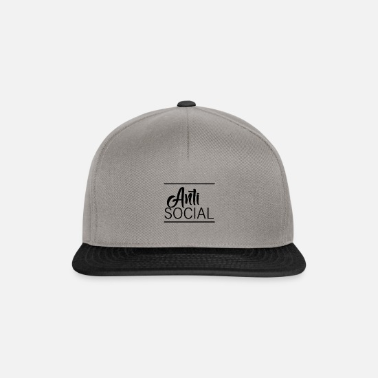 Typography Caps & Hats - Anti social - Snapback Cap graphite/black