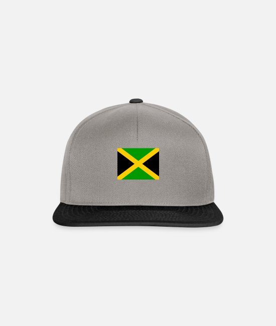 Country Sign Caps & Hats - I jm flag png black 531901dfe61ce470a4f2953b7ad949 - Snapback Cap graphite/black