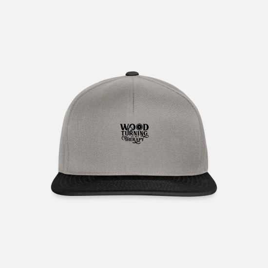Gift Idea Caps & Hats - wood turning - Snapback Cap graphite/black