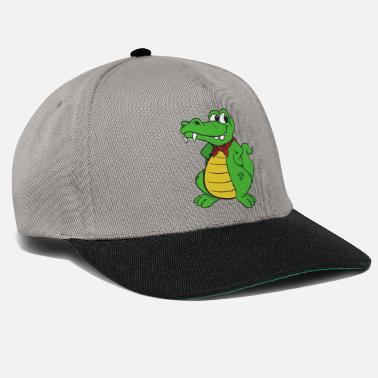 Alligator Crocodile d'alligator cool et mignon - Casquette snapback