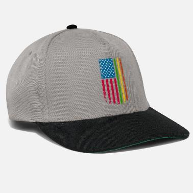 American African American Roots Flag design - Snapback Cap