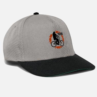 Nights Out Bicycling woman on bicycle biking sport - Snapback Cap