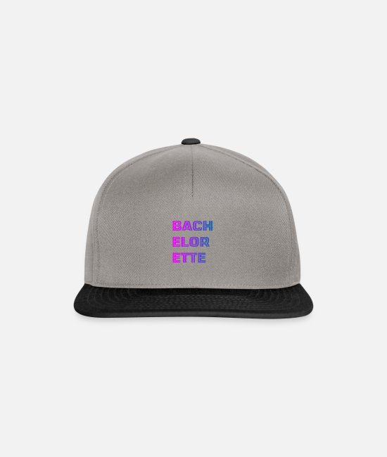 Bride Caps & Hats - hen - Snapback Cap graphite/black