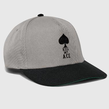 Roulette Kiss My Ace Ace Poker Gambling Gift Casino - Snapback Cap