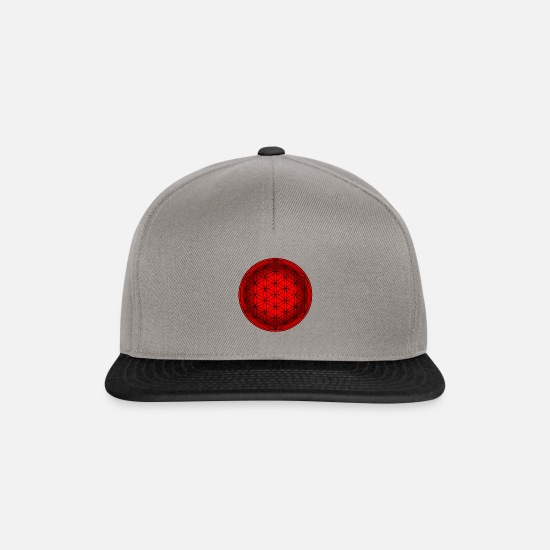 Symbol  Caps & Hats - Flower of Life, Esoteric, Flower of Life, Yoga - Snapback Cap graphite/black