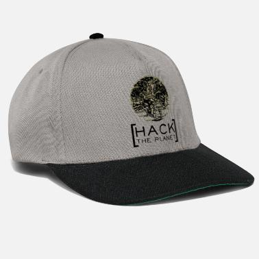 Anonymous Hack the planet motto T-shirt Camouflage - Snapback Cap